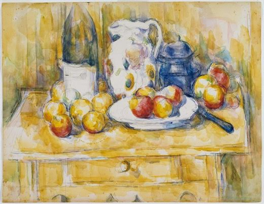 Paul Cézanne, Still Life with Apples on a Sideboard, 1900–1906, Dallas Museum of Art