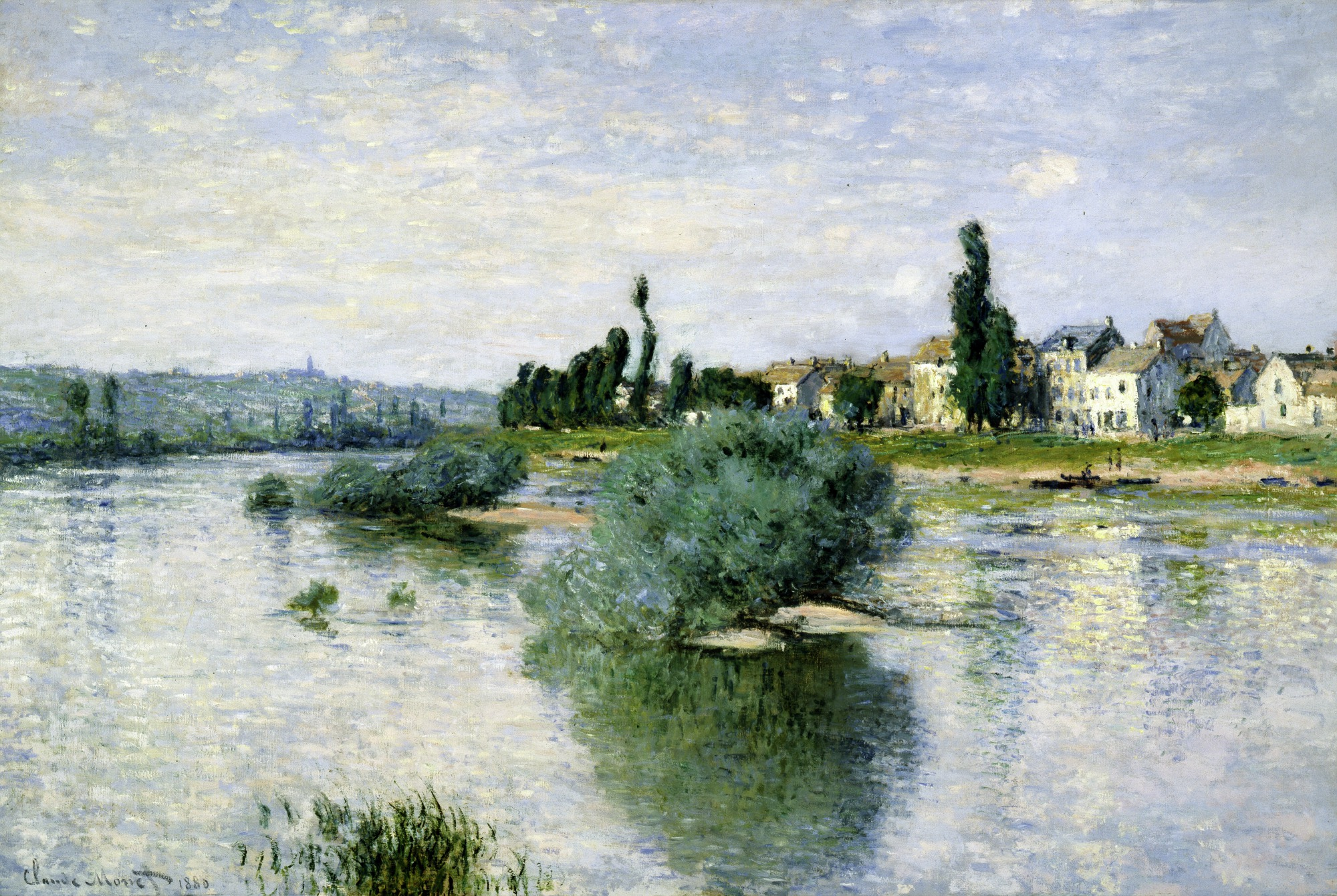 Claude Monet, The Seine at Lavacourt, 1880, oil on canvas, Dallas Museum of Art, Munger Fund 1938.4.M