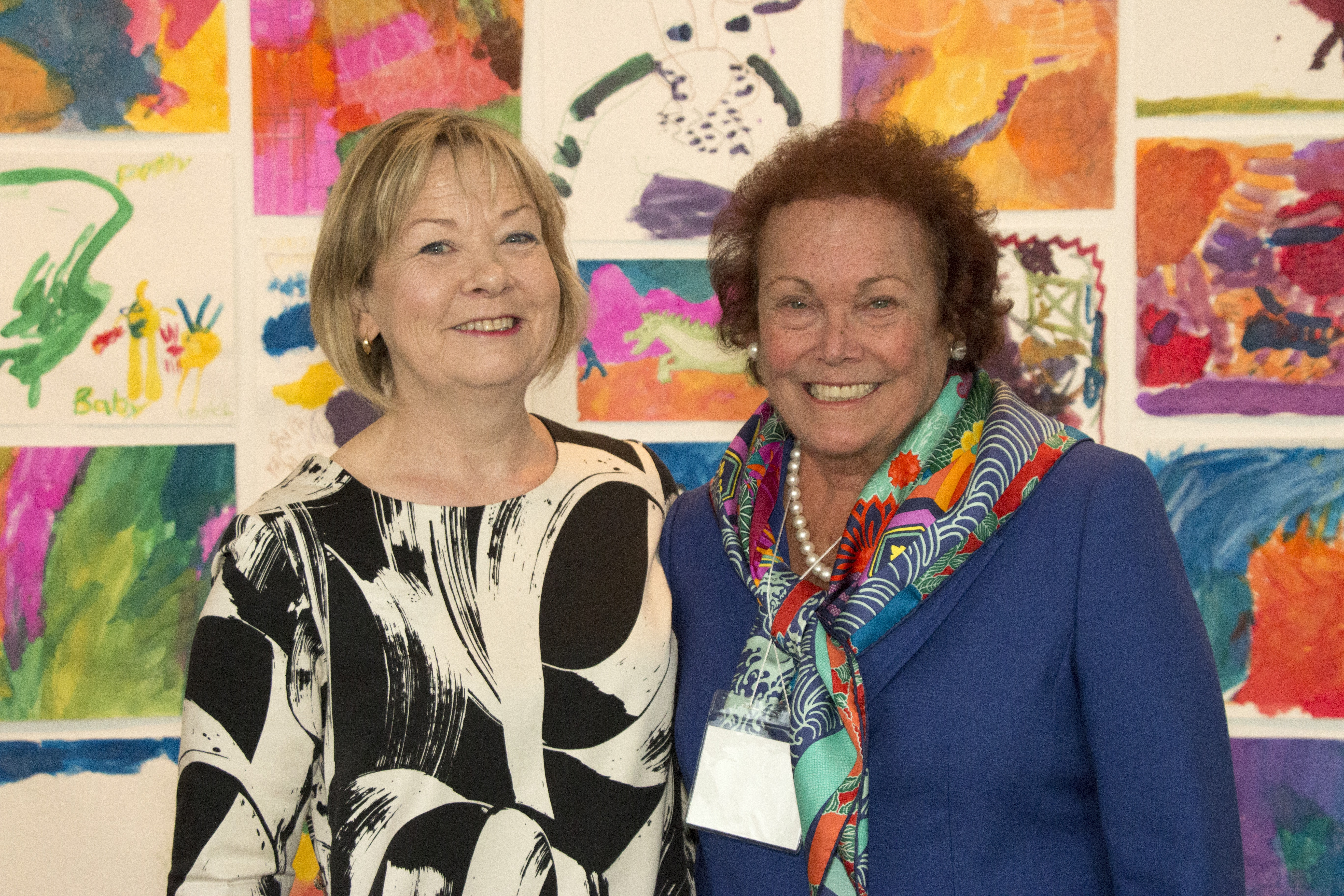 (Pictured left to right) Wendy Woon, The Edward John Noble Foundation Deputy Director for Education and Bonnie Pitman, Distinguished Scholar in Residence.