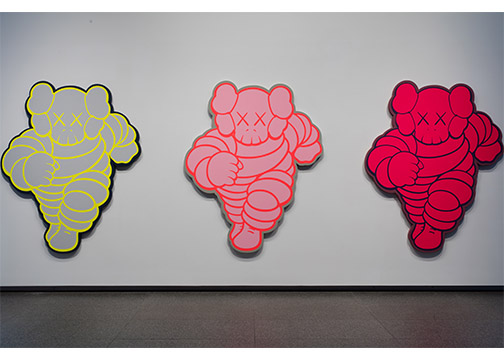 KAWS, CHUM (KCA6), CHUM (KCC3), CHUM (KCB4)KAWS CHUM (KCA6), CHUM (KCC3), CHUM (KCB4), 2012 Acrylic on canvas over panel 84 x 68 x 1 3/4 in. Private Collection Image copyright: Rights & Reproductions