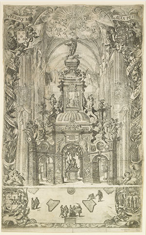 Juan de Valdés Leal (Spanish, 1622-1690), The Triumph of Saint Ferdinand, 1671. Etching. Meadows Museum, SMU, Dallas. Museum Purchase, MM.70.02. Photo by Michael Bodycomb