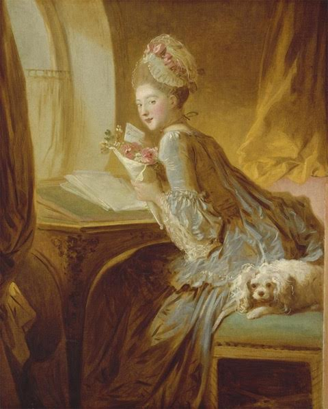 "Jean-Honoré Fragonard, ""The Love Letter,"" c. 1770"