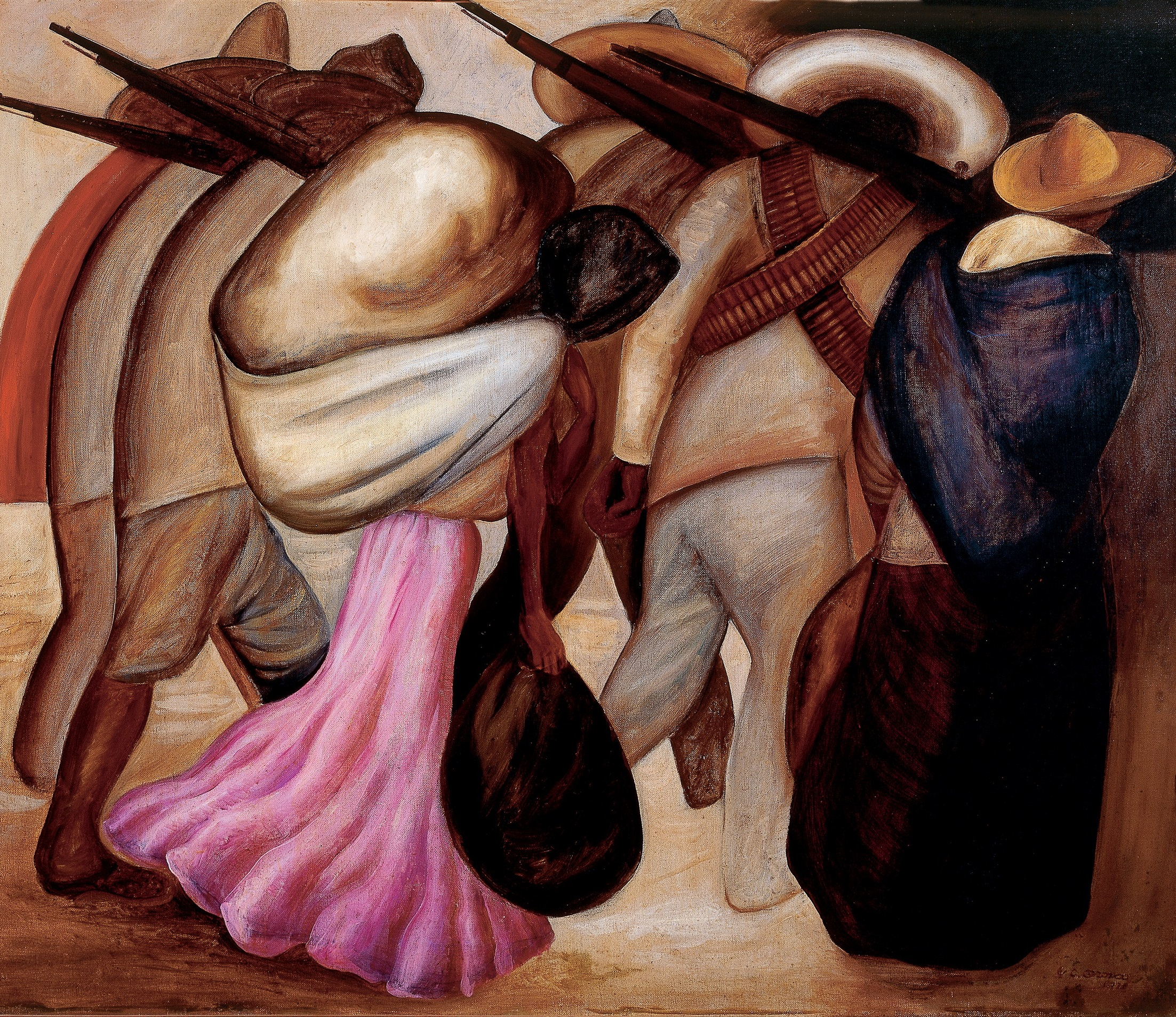 "José Clemente Orozco The ""Soldaderas"" (Las soldaderas), 1926 Oil on canvas Overall: 31 x 37.5 in. (81 x 95.5 cm) Museo de Arte Moderno, INBA © 2017 Artists Rights Society (ARS), New York / SOMAAP, Mexico City"