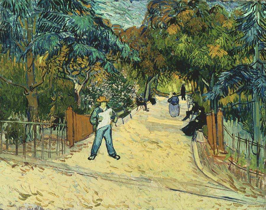 van Gogh, Vincent, Entrance to the Public Gardens in Arles, 1888, Oil on canvas 28 1/2 x 35 3/4 in.; 72.39 x 90.805 cm. Acquired 1930. The Phillips Collection, Washington, D.C.